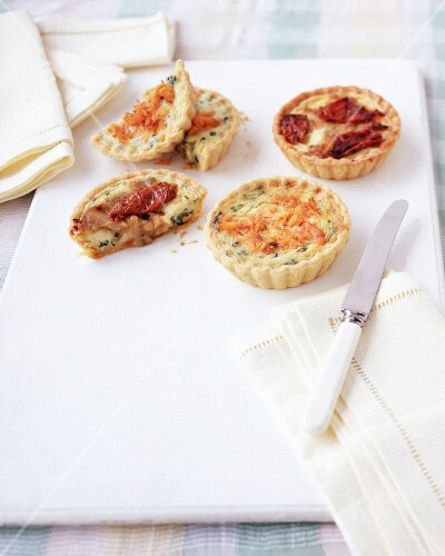 Various spicy tartlets