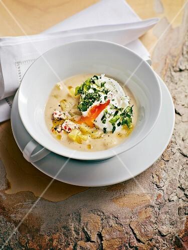 German Brennsuppe (flour-based soup)