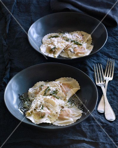 Sweet potato ravioli with cheese