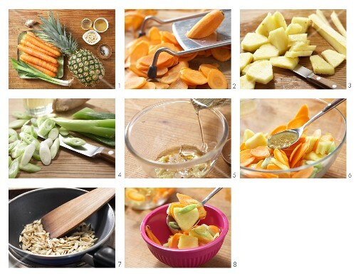 How to prepare carrot & pineapple salad