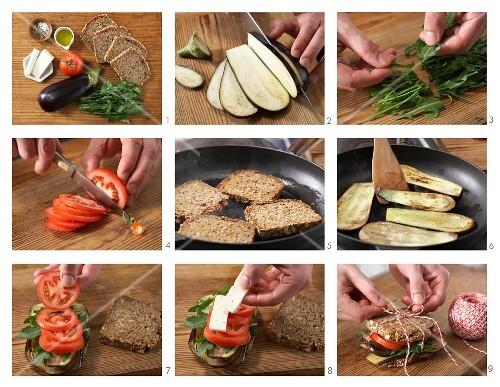 How to prepare an aubergine sandwich