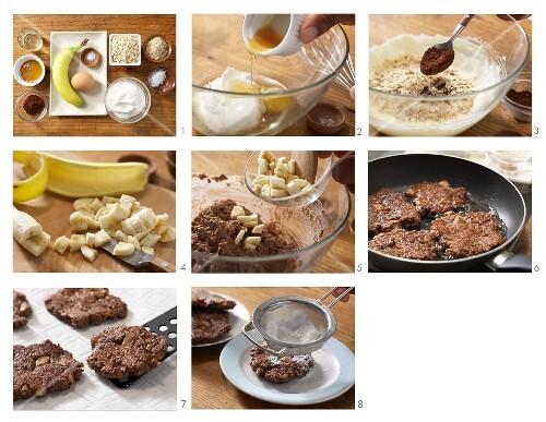 How to prepare chocolate & banana fritters