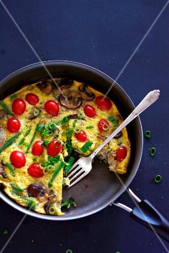 Colourful vegetable frittata