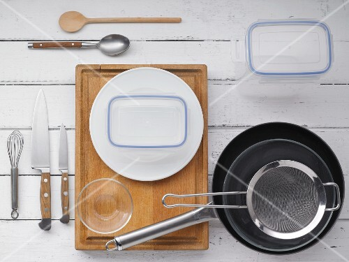 Kitchen utensils for making picnic salads