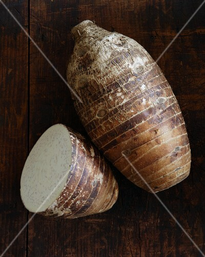 A taro root