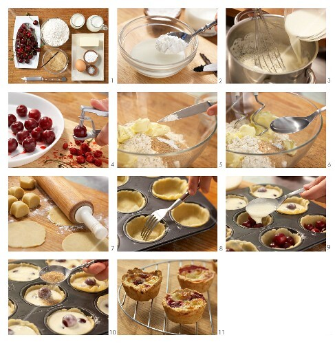 How to prepare cherry & pudding tartlets