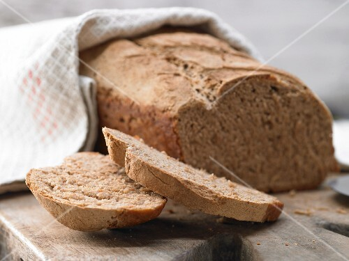 A loaf of mixed wheat bread