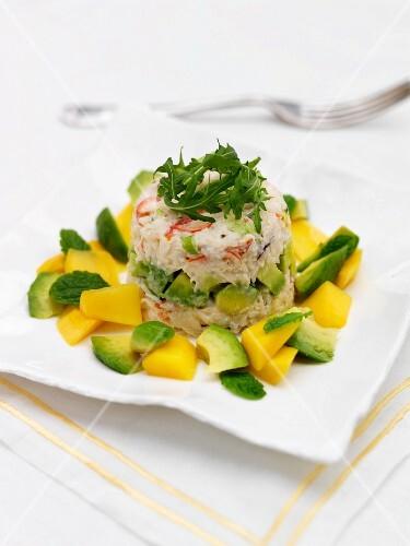 Crab tian with mango and avocado