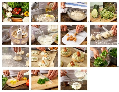 How to prepar savoury buns with sausage