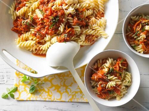 Tomato Fusilli pasta