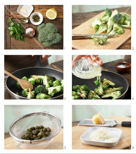 How to prepare pan-fried broccoli with Parmesan