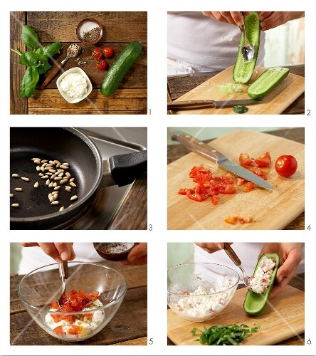 How to prepare stuffed mini cucumbers