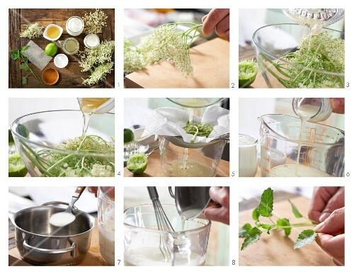 How to make elderflower & yoghurt ice cream