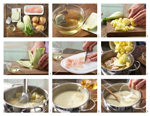 How to prepare fennel and chicken purée