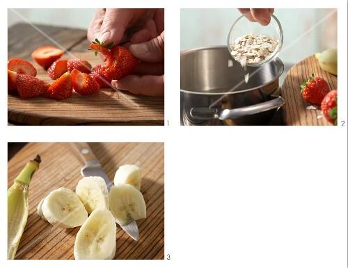How to prepare strawberry porridge with baby oat flakes