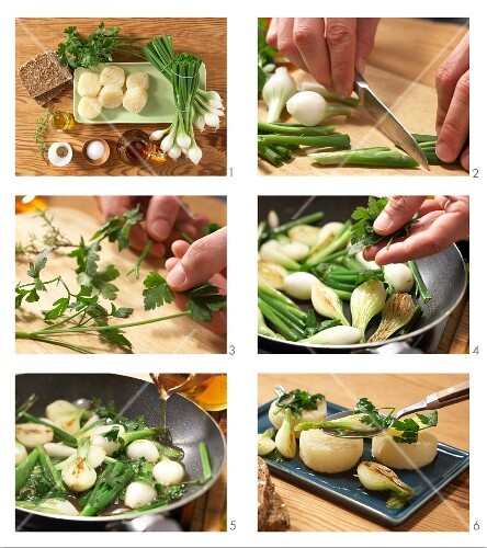 How to prepare Harzer Käse (sour milk cheese) with spring onion
