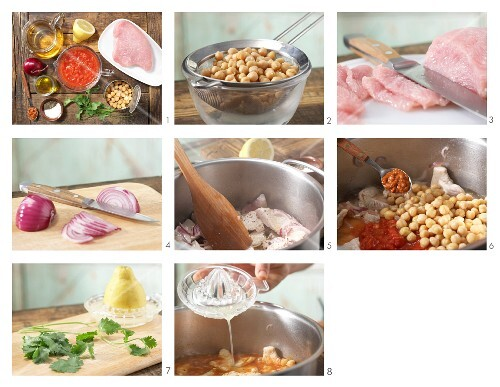 How to prepare chickpea & tomato stew with turkey breast