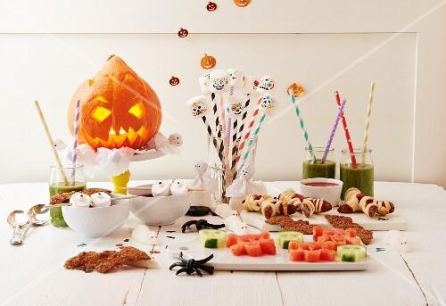 A spooky Halloween buffet