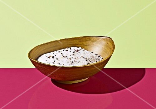 Fish seasoning in a wooden bowl