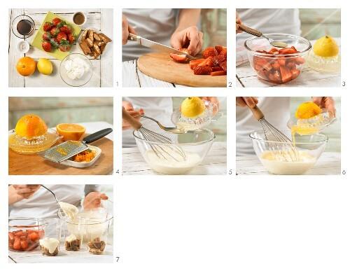 How to prepare a strawberry and espresso layered desert