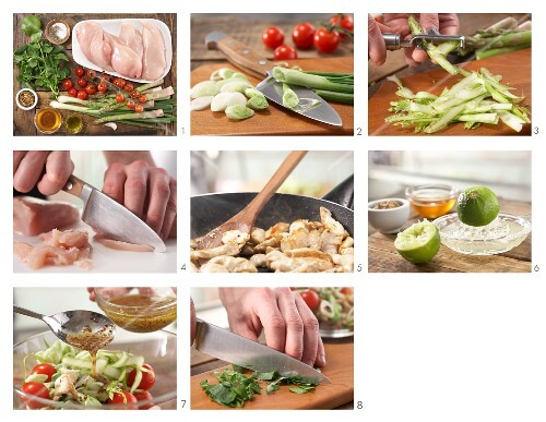 How to prepare chicken and asparagus salad