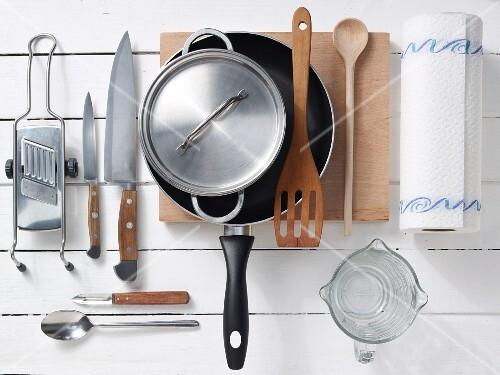 Kitchen utensils for preparing turkey breast in honey and mustard sauce
