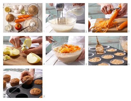 How to prepare carrot and almond muffins