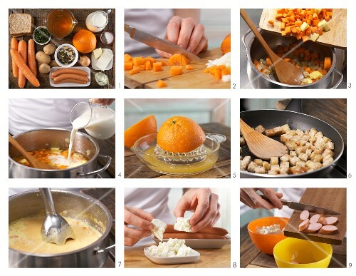 How to prepare carrot and orange soup