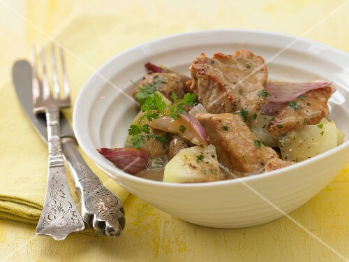 Veal ragout with kohlrabi and chervil
