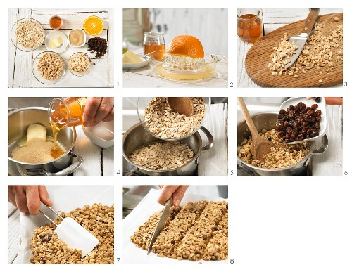 How to prepare peanut and raisin bars