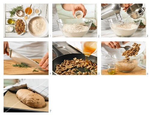 How to prepare walnut bread with rosemary