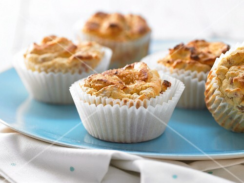 Rhubarb muffins in paper cases