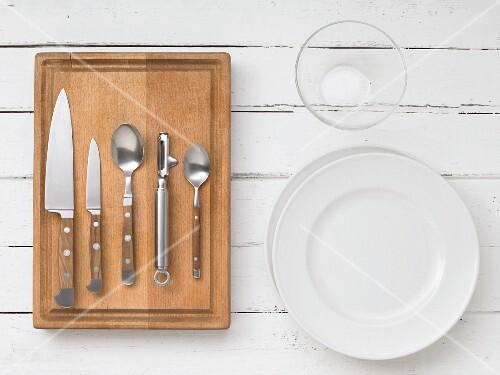 Kitchen utensils for preparing carpaccio