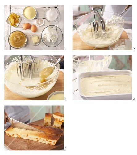 How to prepare cheesecake bars with mango