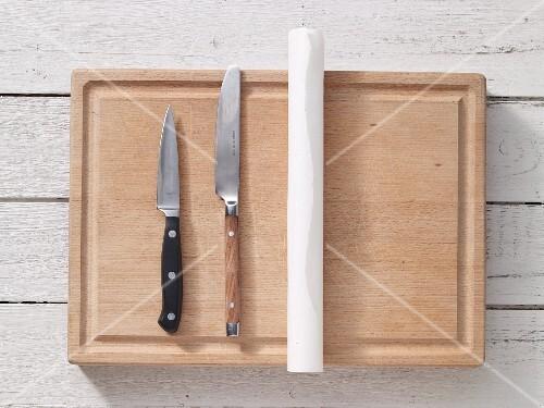 Kitchen utensils for making wraps