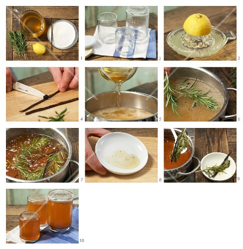 How to prepare apple and rosemary jam with vanilla