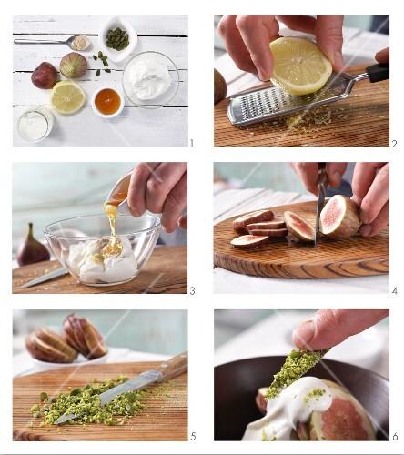 How to prepare lemon and cardamom quark with figs