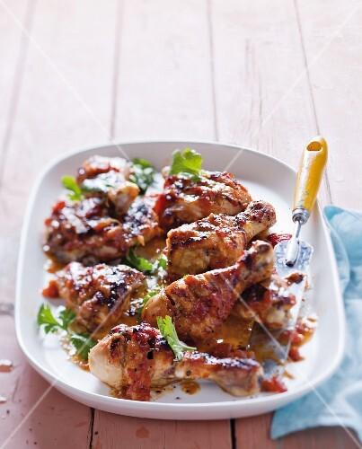 Piri piri chicken with tomato