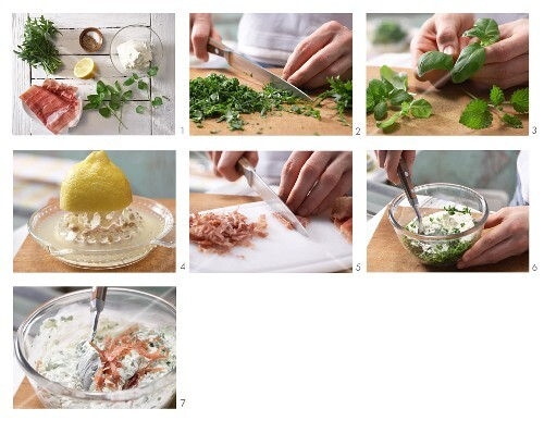 How to prepare herb and ham cream