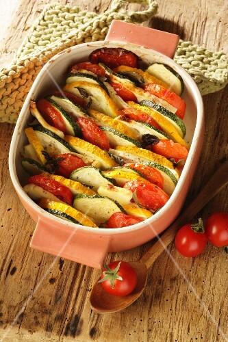 Courgette & tomato bake