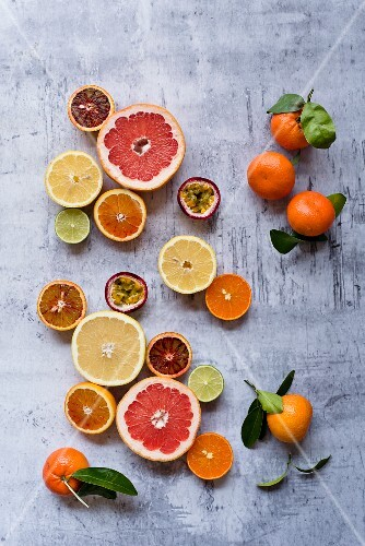 Different types of exotic fruits