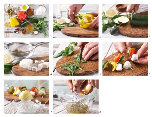 How to prepare mozzarella kebabs