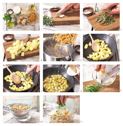 How to prepare pasta with potatoes