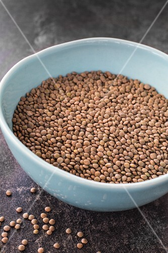 Pardina lentils in a ceramic bowl