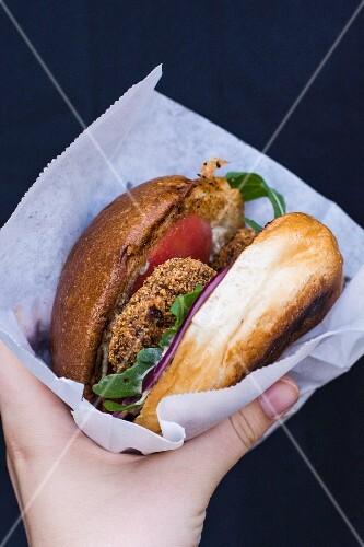 A takeaway burger