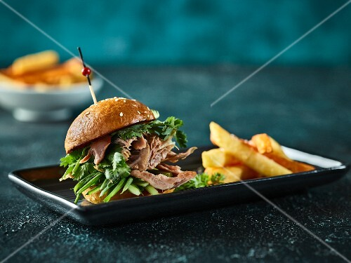 A duck slider with chips