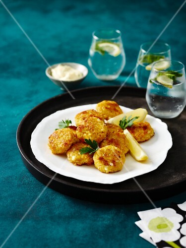 Pumpkin risotto fritters with feta
