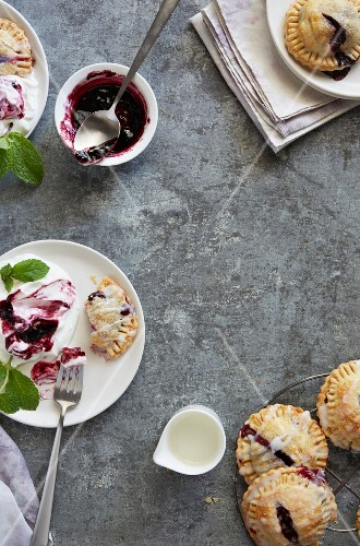 Hand pies with a blueberry filling