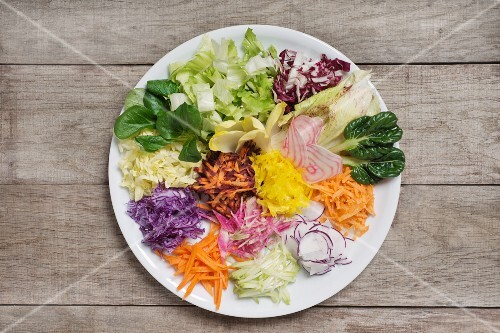 A mixed winter salad