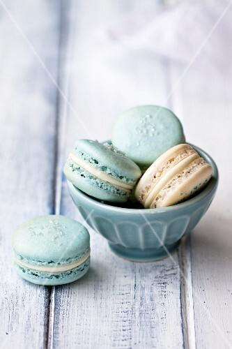 Macarons in a bowl